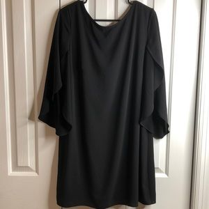 AB studio XL fabulous black dress w/unique sleeves